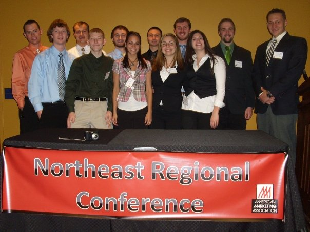 Accepting awards at regional conference